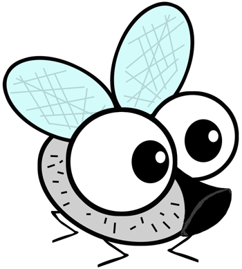 Step 5 : Drawing Cartoon Fly in Easy Steps