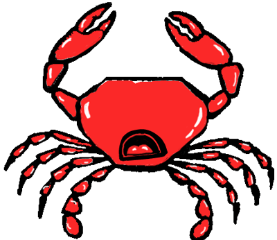 Step 5 : Drawing Cartoon Crabs Step by Step Tutorial