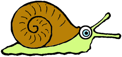 Step 6 : Drawing Cartoon Snails Step by Step Tutorial