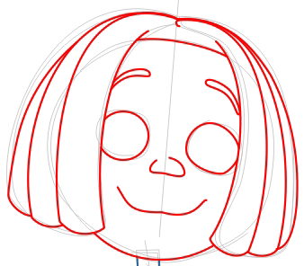 Step 6 : Drawing Libby from Jimmy Neutron Step by Step Tutorial