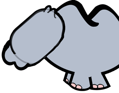 Step 6 : Drawing Cartoon Rhinos in Easy Steps