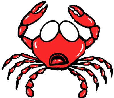 Step 6 : Drawing Cartoon Crabs Step by Step Tutorial