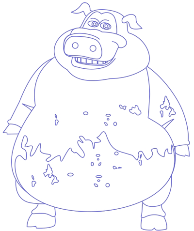 Step 7 Drawing Pig from Barnyard Lesson