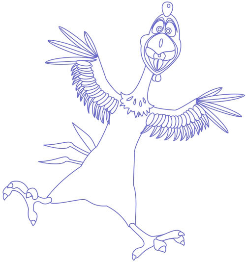 Step 7 : Drawing Peck Rooster from Barnyard Lesson