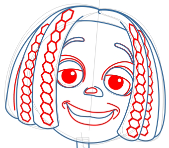 Step 7 : Drawing Libby from Jimmy Neutron Step by Step Tutorial