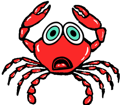 Step 7 : Drawing Cartoon Crabs Step by Step Tutorial