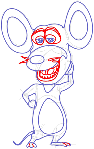 Step 7 : Drawing Pip Mouse from Barnyard Lesson