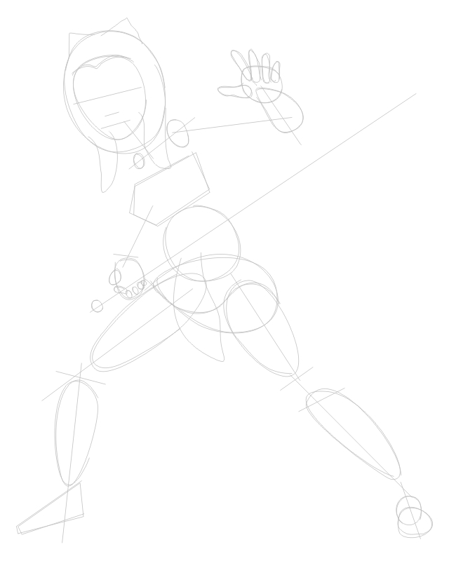 Step 1 : Drawing Ahsoka Tano from The Clone Wars Tutorial