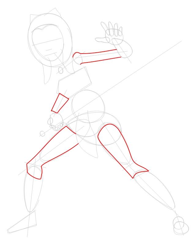 Step 2 : Drawing Ahsoka Tano from The Clone Wars Tutorial