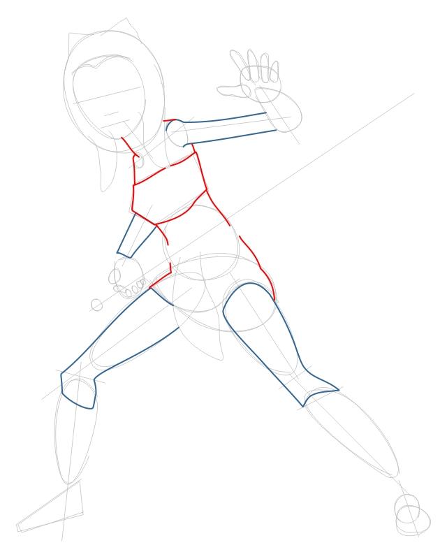 Step 3 : Drawing Ahsoka Tano from The Clone Wars Tutorial