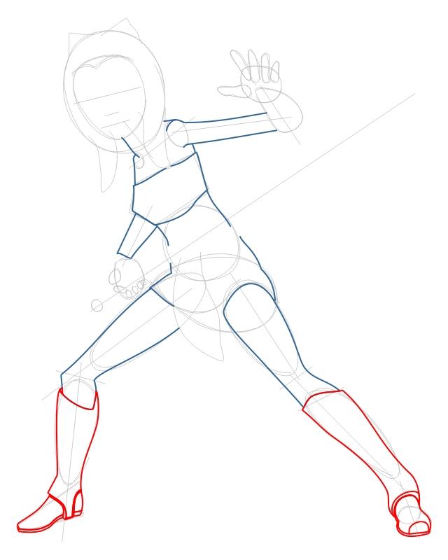 Step 4 : Drawing Ahsoka Tano from The Clone Wars Tutorial