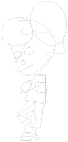 Step 1 : Drawing Cindy Votex from Jimmy Neutron in Easy Steps Lesson