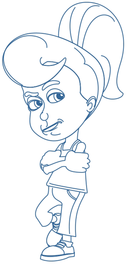 Step 8 : Drawing Cindy Votex from Jimmy Neutron in Easy Steps Lesson