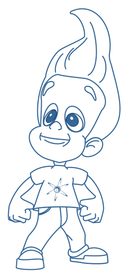 Step 8 : Drawing Jimmy Neutron in Easy Steps Lesson