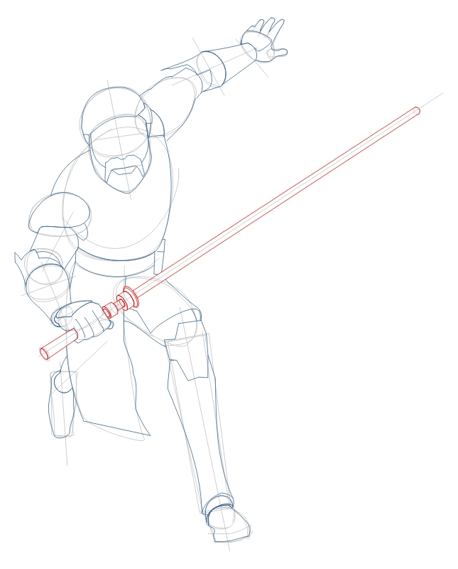 Step 5 : Drawing Obi-Wan Kenobi from The Clone Wars Tutorial