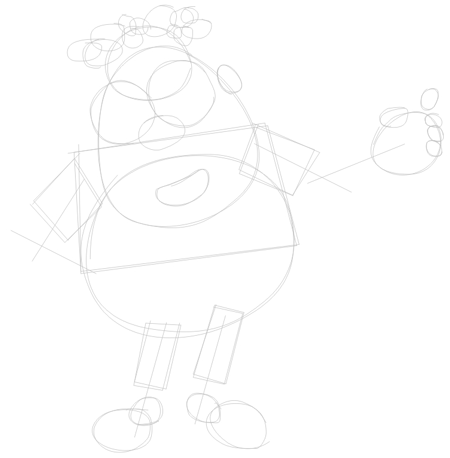 Step 1 : Drawing Carl Wheezer from Jimmy Neutron Lesson