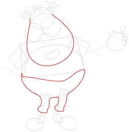 Step 2 : Drawing Carl Wheezer from Jimmy Neutron Lesson