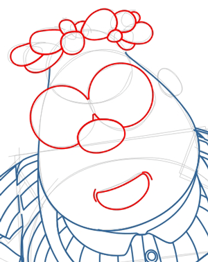 Step 6 : Drawing Carl Wheezer from Jimmy Neutron Lesson
