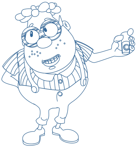Step 8 : Drawing Carl Wheezer from Jimmy Neutron Lesson