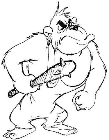 Drawing Cartoon Angry Apes and Gorillas in Easy Steps Tutorial