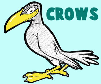 How to Draw Cartoon Crows and Ravens with Simple Steps Cartooning Lesson