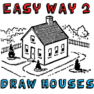 Buildings structures archives how to draw step by step for How to draw a two story house step by step