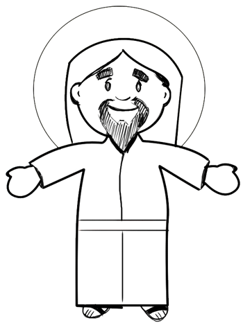 Step 5 drawing jesus christ easter tutorial
