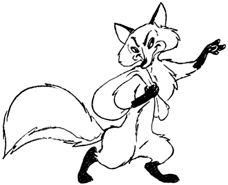 How to Draw Sneaky Cartoon Foxes with Easy Step by Step Drawing Tutorial