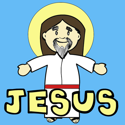 How to Draw Cartoon Jesus Christ for Easter Step by Step Drawing Lessons