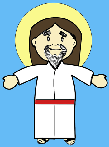 How to Draw Cartoon Jesus Christ for Easter Step by Step ...
