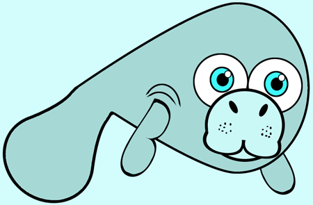 How to Draw Cartoon Manatees in Easy Step by Step Drawing Lesson