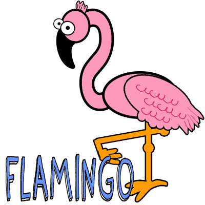 How to Draw Cartoon Pink Flamingos in Easy Steps Lesson