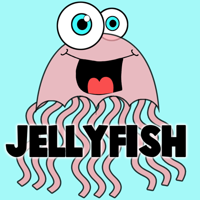 How to Draw Cartoon Jellyfish with Easy Step by Step Drawing Tutorial