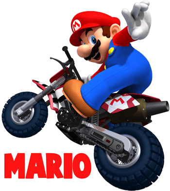How to Draw Mario Riding a Bike from Mario Kart Wii Drawing Tutorial