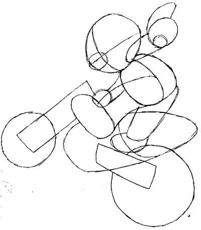 Step 5 : Drawing Mario on Motorcycle Dirt Bike