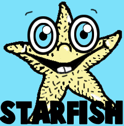 How to Draw Cartoon Star Fish in Easy Step by Step Drawing Lesson