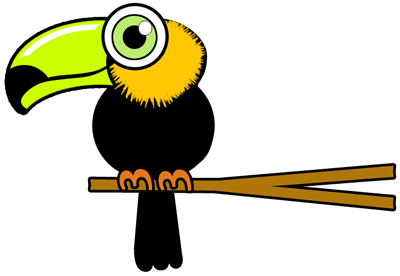 how to draw a toucan bird step by step