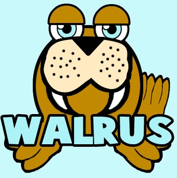 How to Draw Cartoon Walrus with Easy Step by Step Drawing Lesson