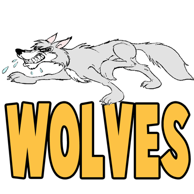 wolf drawing easy