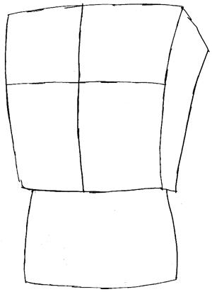 Step 2 : Drawing Gangster Spongebob Lesson