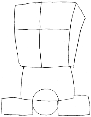 Step 3 : Drawing Gangster Spongebob Lesson