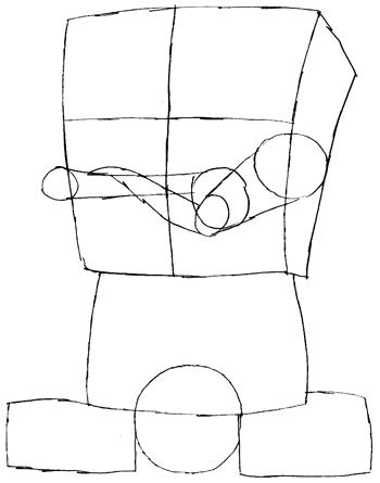 Step 4 : Drawing Gangster Spongebob Lesson