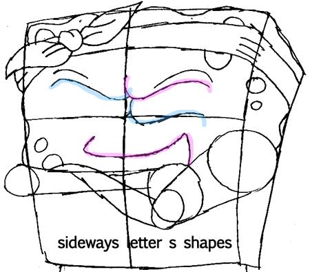 Step 4.1 : Drawing Gangster Spongebob Lesson
