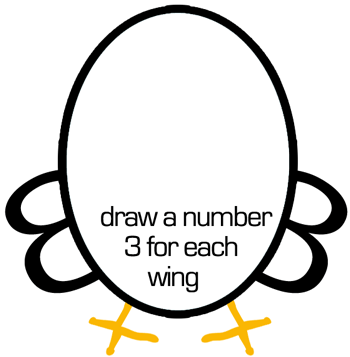 Step 2 : Drawing Chickens for Preschoolers
