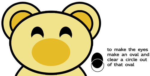 Step 3 : Drawing Cartoon Bears in Easy Steps Lesson