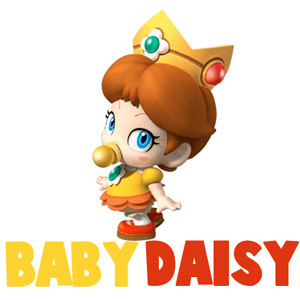How to Draw Baby Princess Daisy from Wii Mario Kart