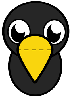 Step 3 : Drawing Baby Crows in Easy Steps Tutorials