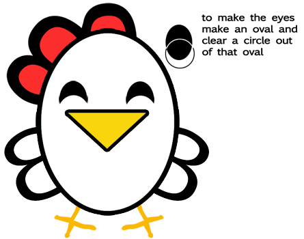 Step 5 : Drawing Chickens for Preschoolers