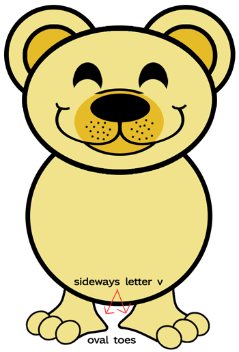 Step 6 : Drawing Cartoon Bears in Easy Steps Lesson