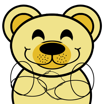 Step 7 : Drawing Cartoon Bears in Easy Steps Lesson